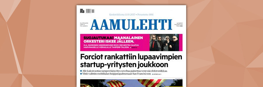 FORCIOT in Aamulehti